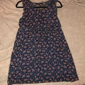 Navy Blue Floral Dress size small